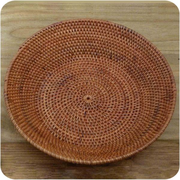 Brotschale Burma aus Rattan, Obstschale Brotkorb dekorative Unikate Handarbeit rund