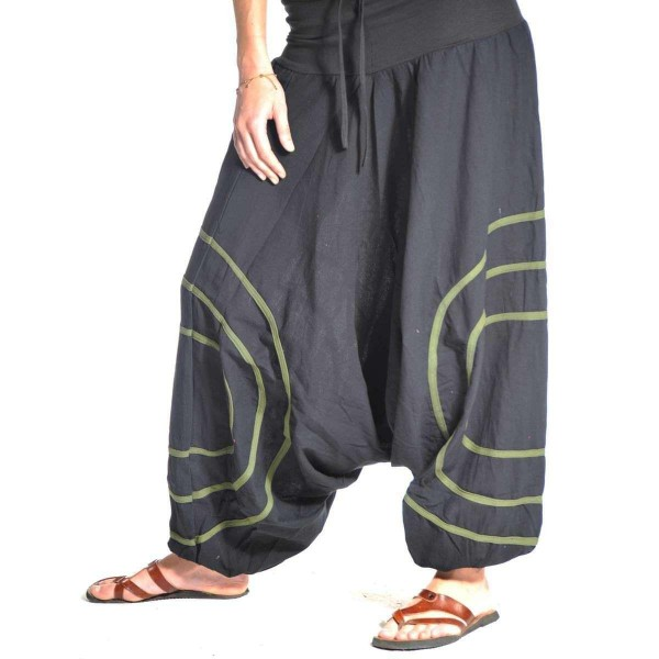 Haremshose Pumphose Aladinhose Pluderhose Yoga Goa Sarouel Baggy Aladin Freizeithose Cercles Herren