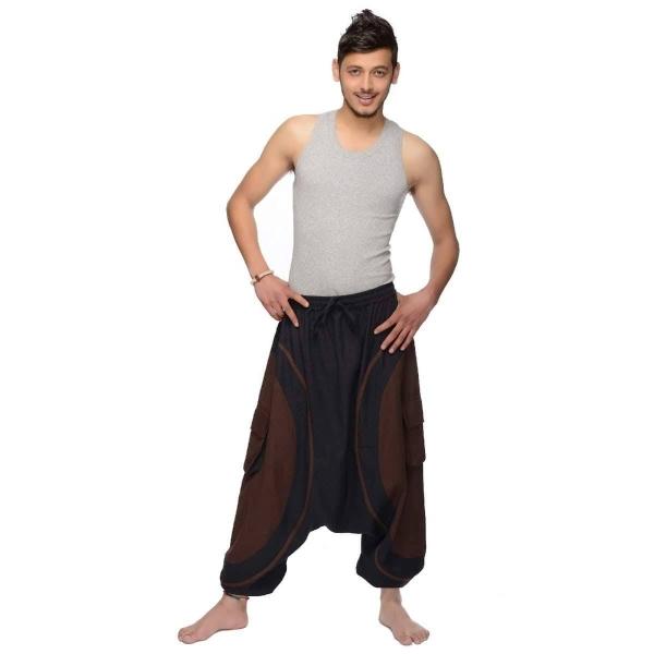Haremshose Pumphose Aladinhose Pluderhose Yoga Goa Sarouel Baggy Aladin Freizeithose Soni Herren
