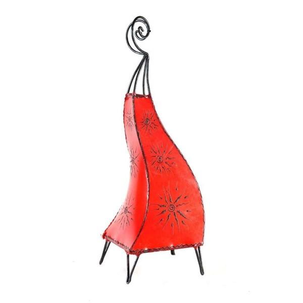 Orientalische Lampe Hennalampe marokkanische Lederlampe Tischleuchte Stehleuchte Marrakesch Sonne 60 cm