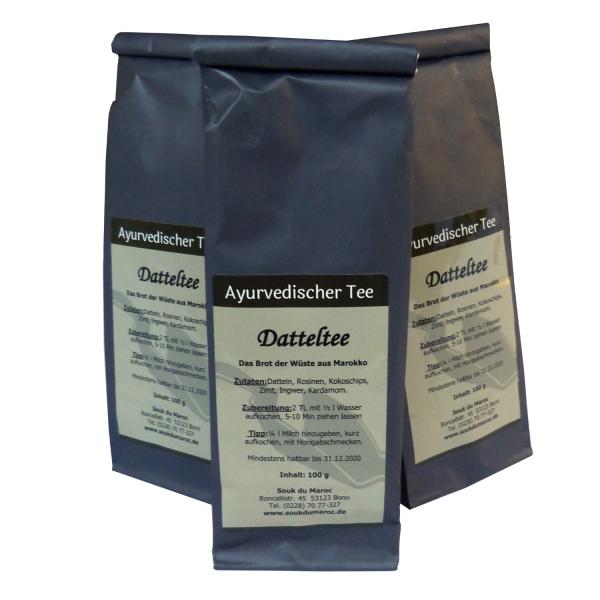 Datteltee I Ayurvedischer Tee ohne Aroma I naturbelassene Teemischung I lose abgefüllt I 100g
