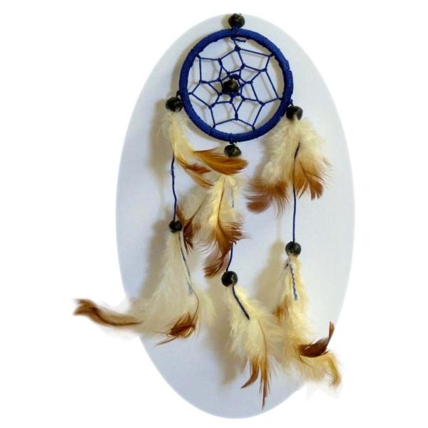 Traumfänger Dreamcatcher Federn Träume Geschenk Dekor Hängend Windspiel Raumharmonisierung 6 cm
