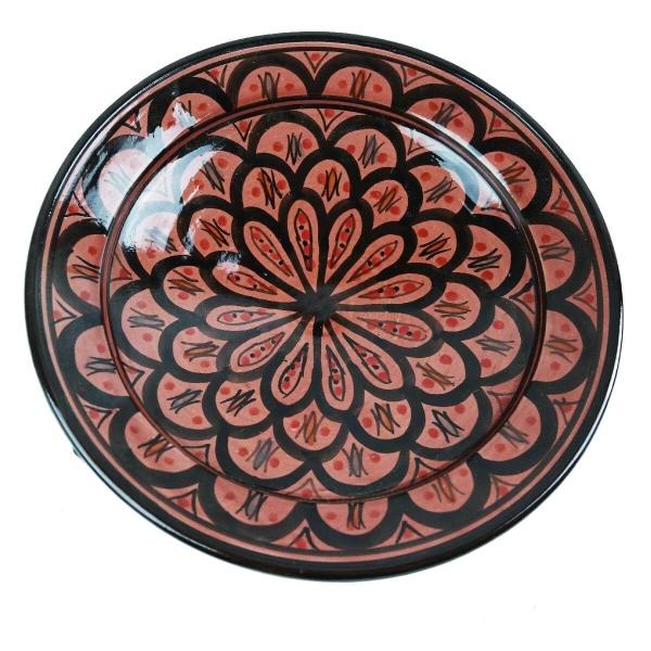 Orientalischer Keramik Teller handbemalt marokkanische Keramikschüssel Wandteller mittel
