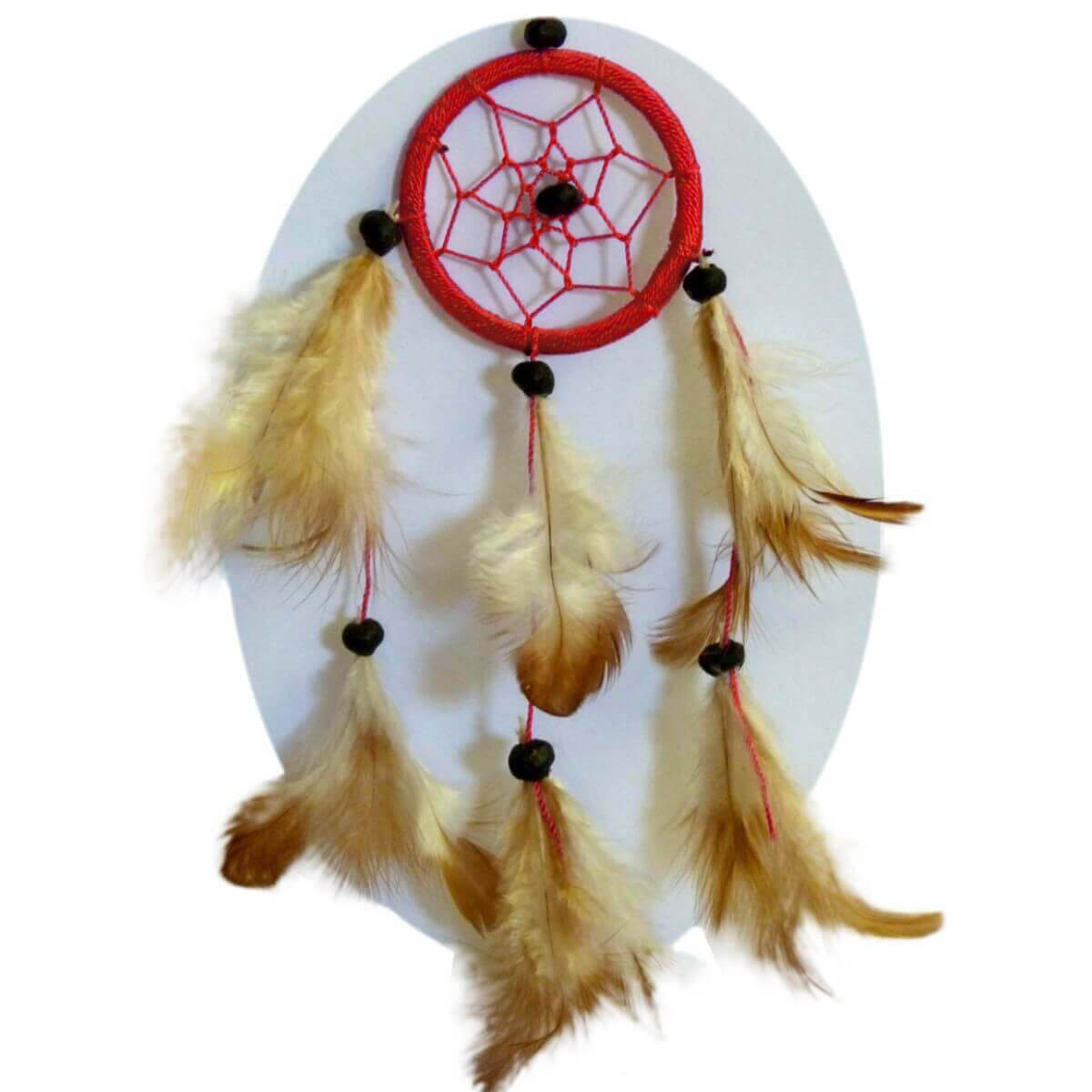 traumf nger dreamcatcher federn deko geschenk windspiel 6 cm. Black Bedroom Furniture Sets. Home Design Ideas
