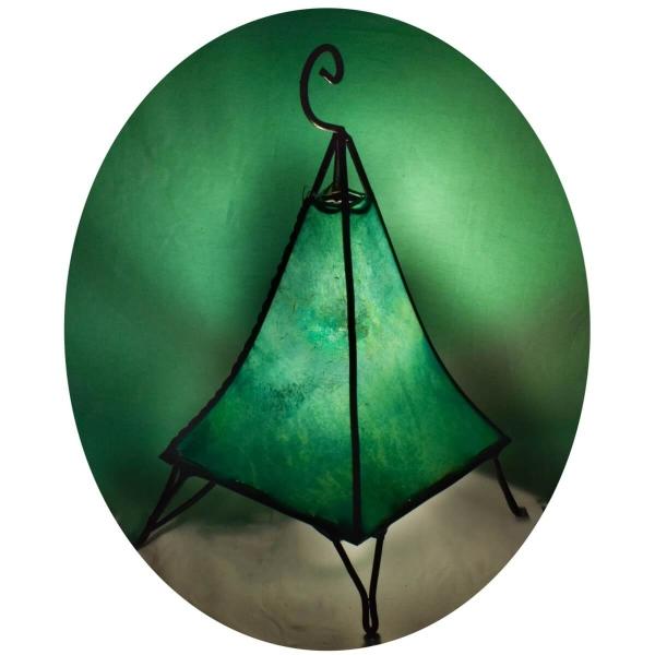 Orientalische Lampe Hennalampe marokkanische Lederlampe Tischleuchte Stehleuchte Pyramide einfarbig 35-38 cm