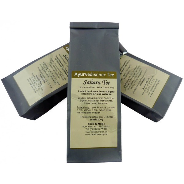 Saharatee I Ayurvedischer Tee ohne Aroma I naturbelassene Teemischung I lose abgefüllt I 100g