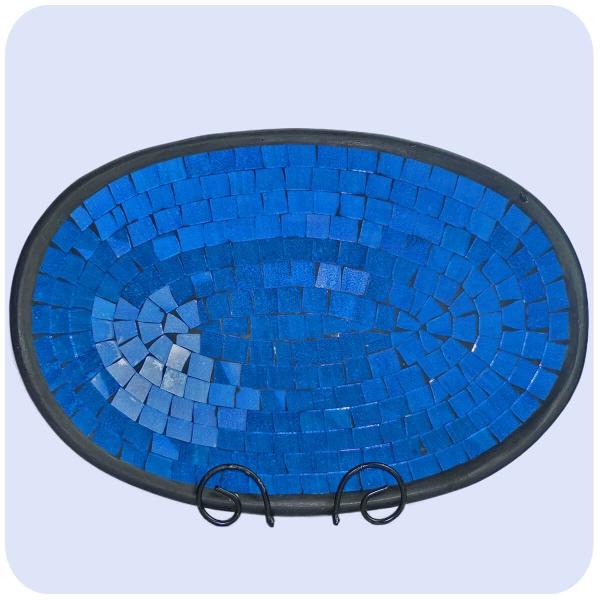 Mosaikschale Tonschale Glasschale Dekoschale Mosaik Kunsthandwerk Glassteine Deko oval groß