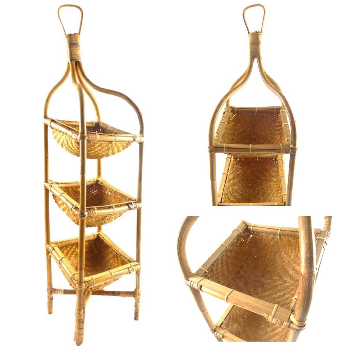 rattan regal flechtweide korbregal dekoratives regal. Black Bedroom Furniture Sets. Home Design Ideas