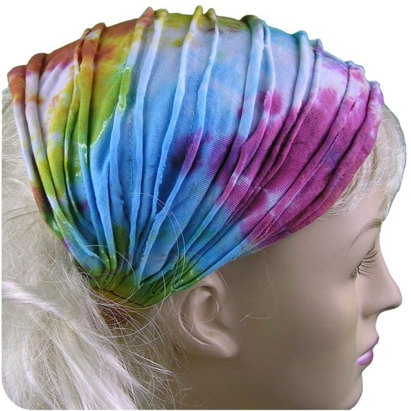 Haarband Stirnband Batik Kopfband Kopftuch Schweißband Haarschmuck Sport Fitness Yoga Gummi