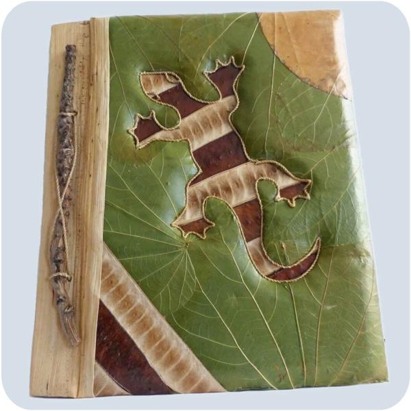 Handgemachtes Notizbuch Gästebuch Erinnerungen Buch handgefertigt Kunsthandwerk Adressbuch Natur 28 x 23 cm groß