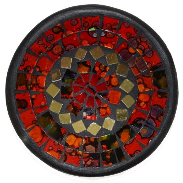 Mosaikschale Tonschale Glasschale Dekoschale Mosaik Kunsthandwerk Glassteine Deko rund Spiegel S