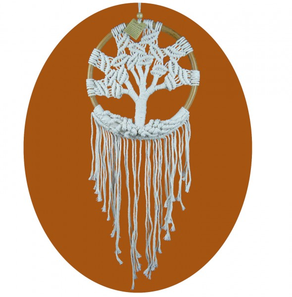 Traumfänger Lebensbaum Dreamcatcher Tree of Life 16 x 45 cm
