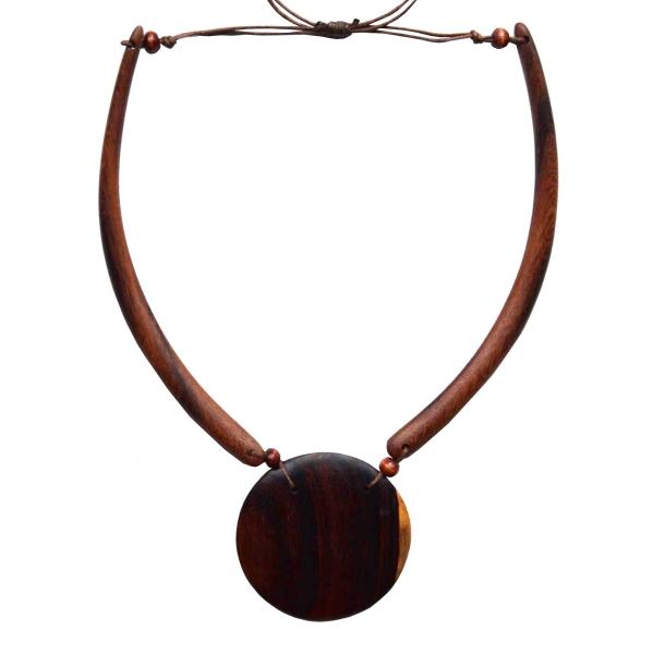Halskette I Kette aus Naturmaterial I Holzschmuck