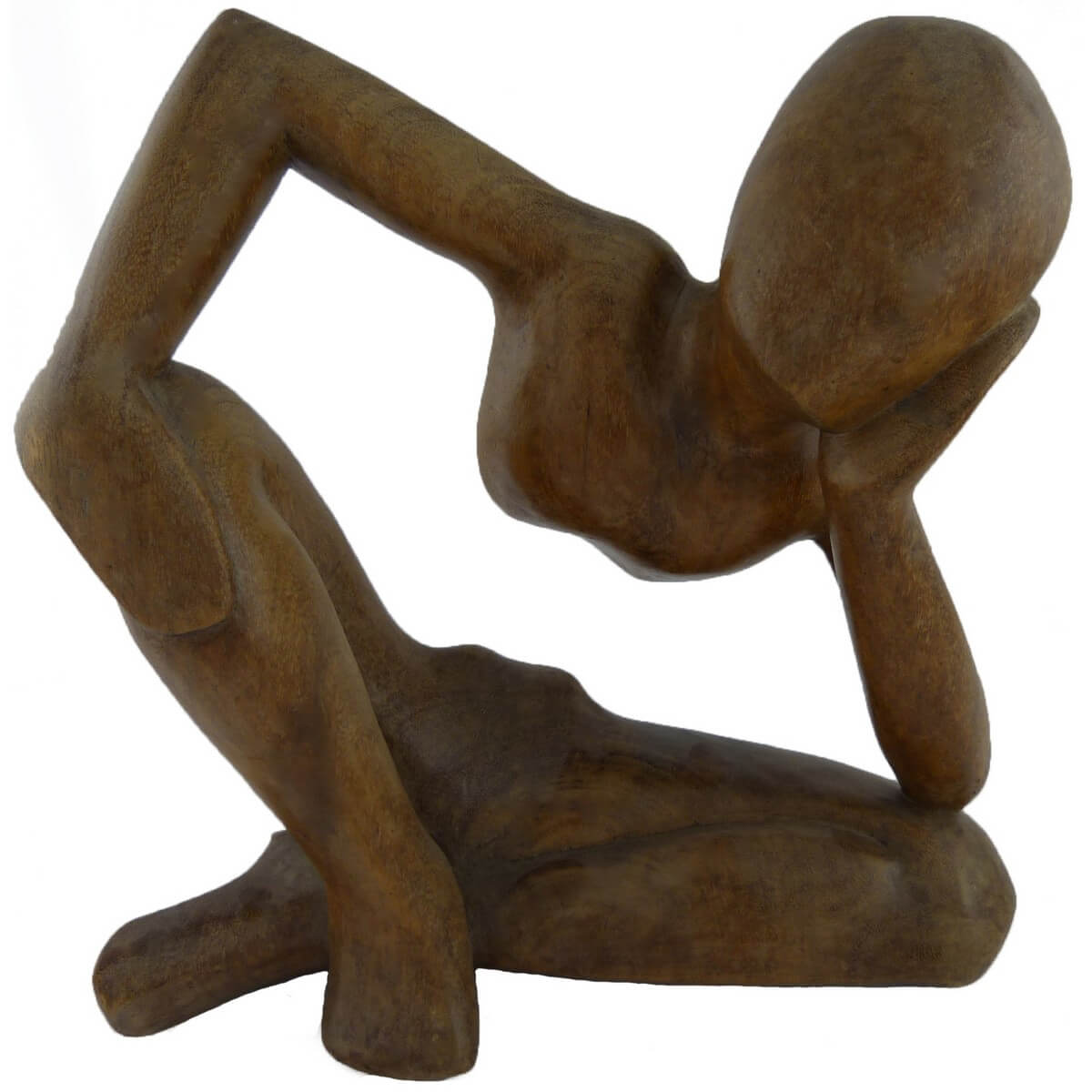 holz figur skulptur abstrakt holzfigur afrika deko. Black Bedroom Furniture Sets. Home Design Ideas