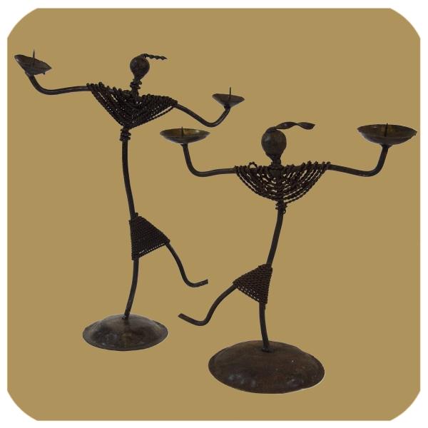 SIMANDRA Kerzenständer Kerzenleuchter afrikanischer Tanz