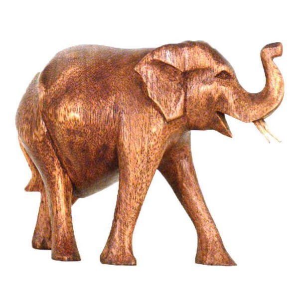 Elefant Holz Figur Skulptur Abstrakt Holzfigur Statue Afrika Asia Glücksbringer Handarbeit Deko