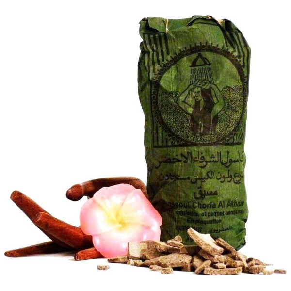 Ghassoul Wascherde original Tonerde Lavaerde Haar Körperpflege Gesichtsmaske Peeling Sauna 500 g