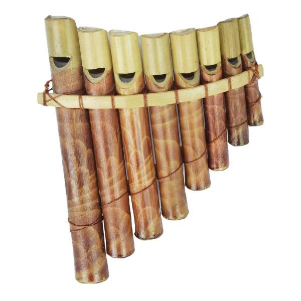 Panflöte Pfeife Bambus Blas Instrument Handarbeit Musik Rhythmus Klang Percussion Kinder Spielzeug