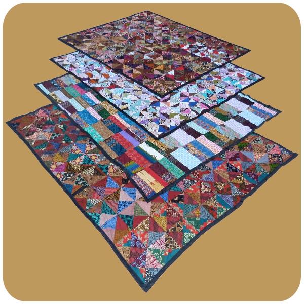 Tagesdecke Bett-Überwurf Patchwork-Decke Steppdecke Quilt Überdecke Doppelbett