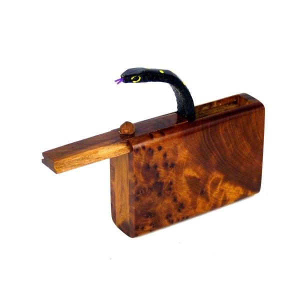 Holz Thuja Spielzeug Schlange Box Scherzartikel beißende magische Kiste Zaubern Wurzelholz