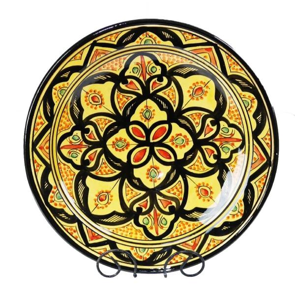 Orientalischer Keramik Teller handbemalt marokkanische Keramikschüssel Wandteller groß