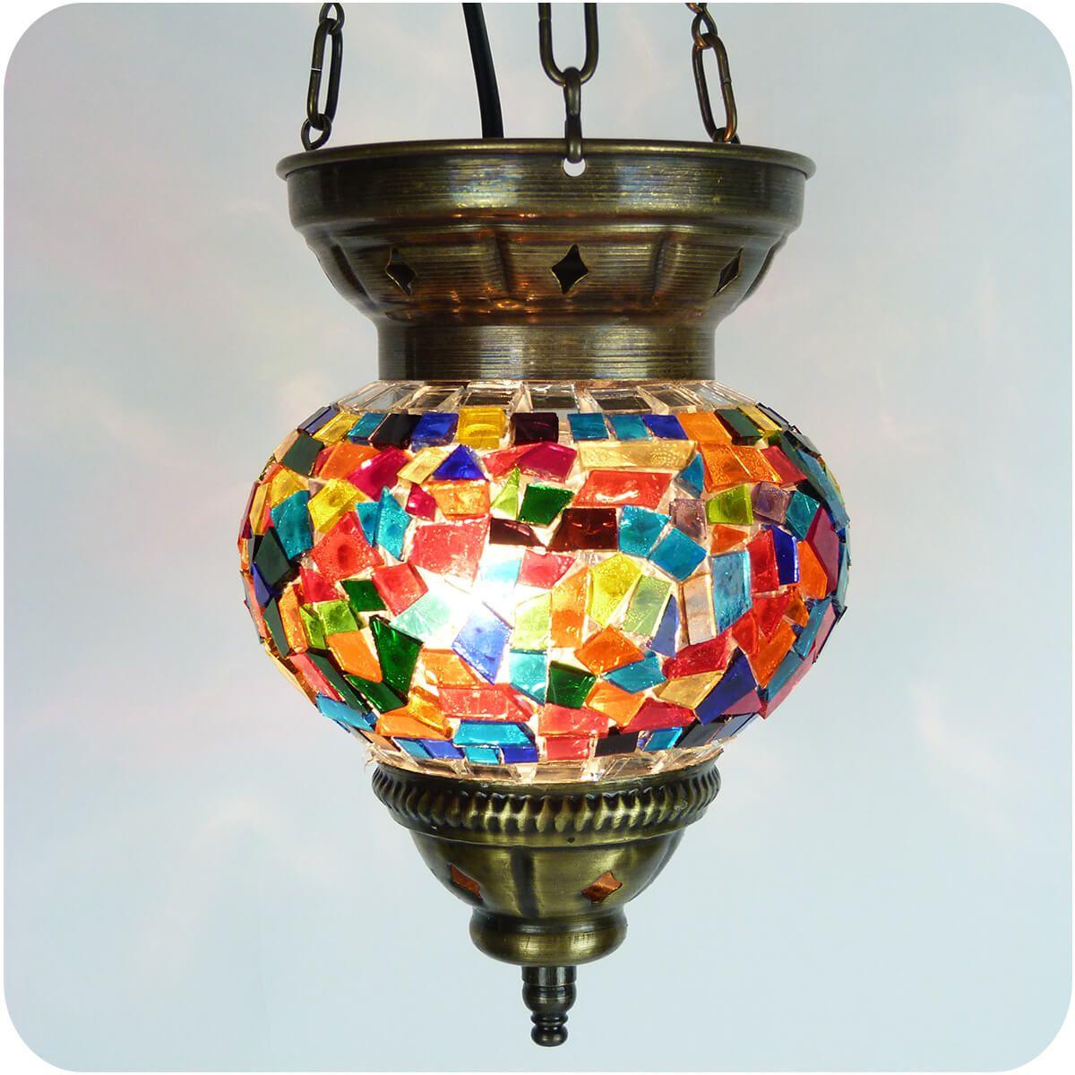 Orientalische mosaik glas lampe h ngeleuchte deckenlampe t rkisch stil 20x16 cm ebay for Mosaik lampe orientalisch