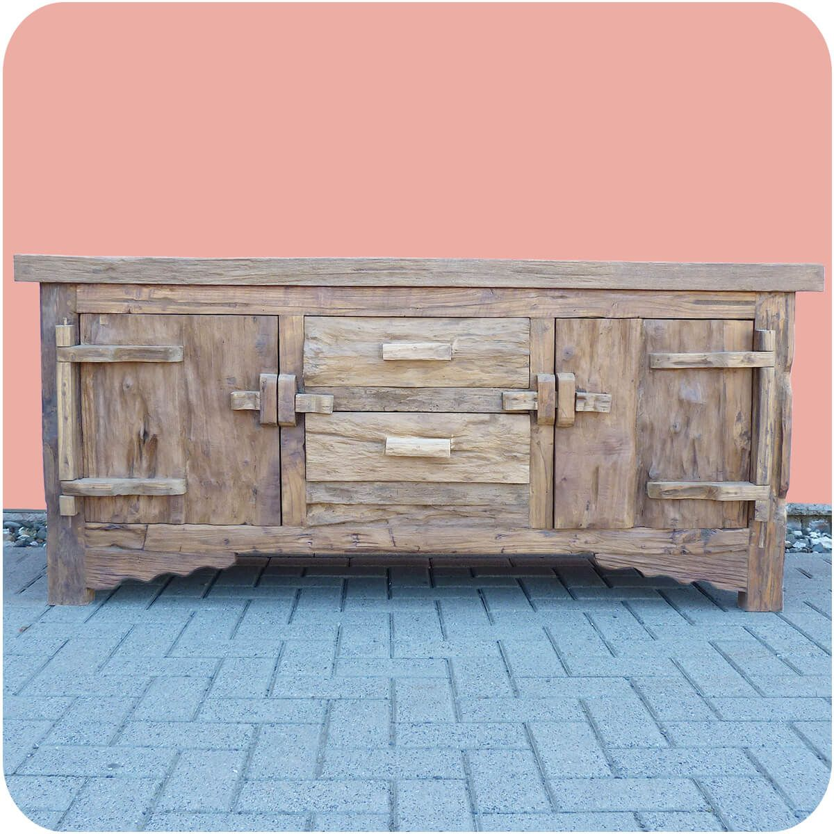 altholz kommode lombok vintage massiv teakholz m bel handarbeit antik 1 ebay. Black Bedroom Furniture Sets. Home Design Ideas