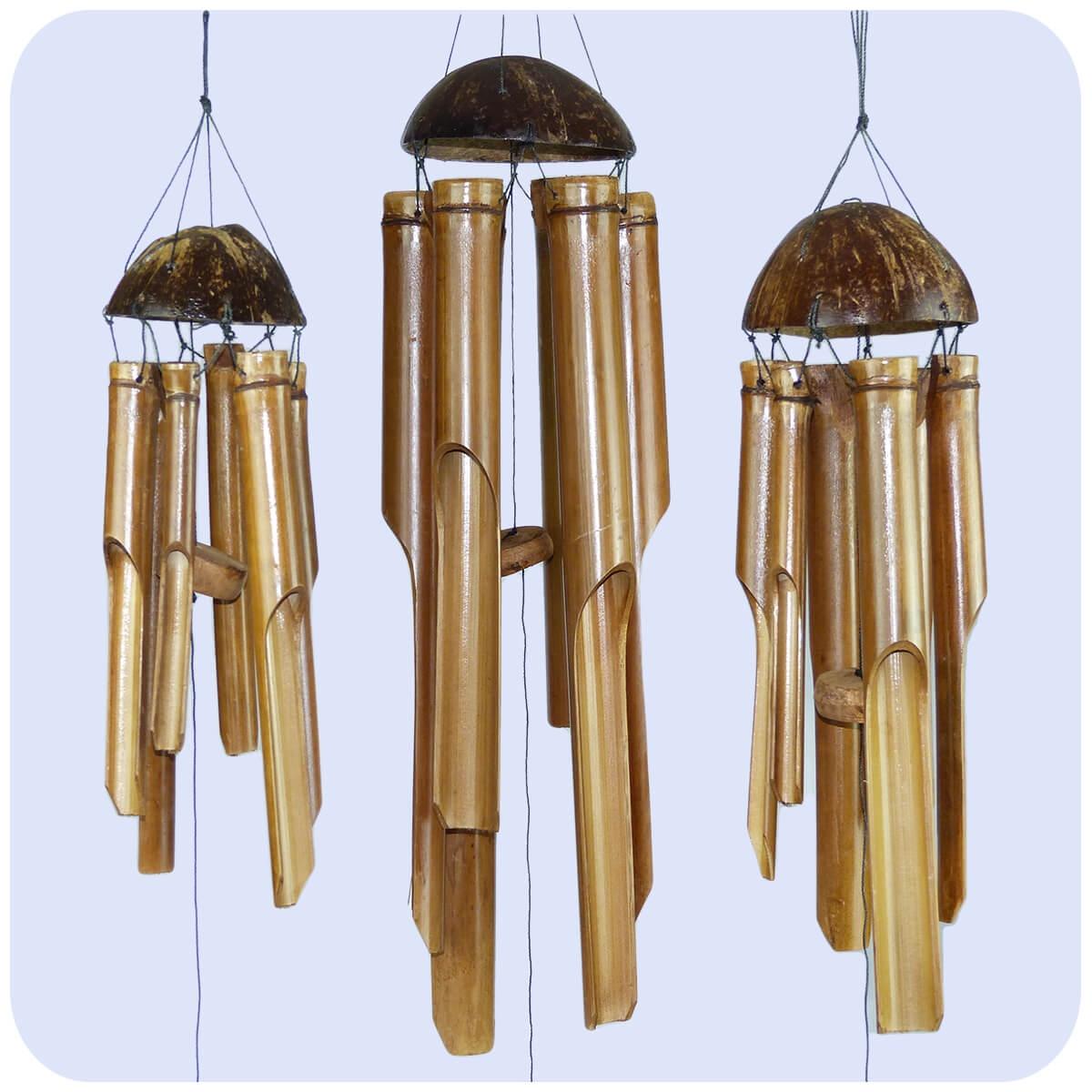 windspiel klang spiel bambus holz deko mobile klangr hren garten feng shui 3 set ebay. Black Bedroom Furniture Sets. Home Design Ideas
