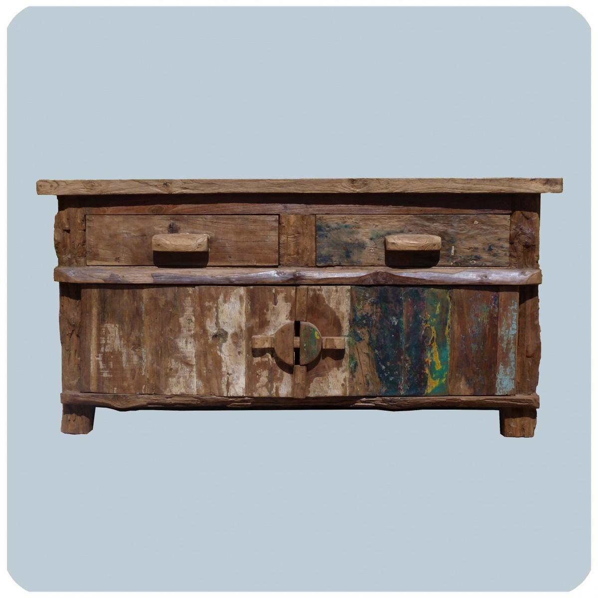Vieux ch ne commode born o vintage massif bois de teck meuble artisan ebay for Vieux meuble en bois