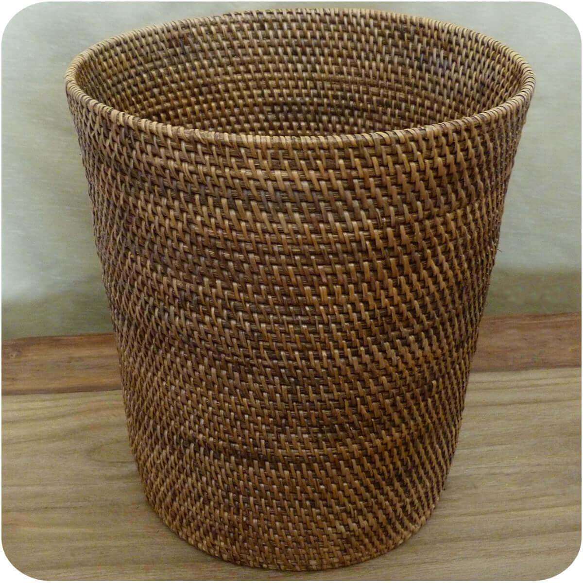 Rattan papierkorb burma flechtkorb basket korb deko unikat for Korb deko