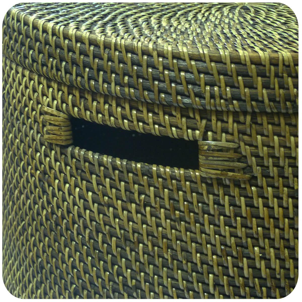 Wäschekorb Wäschebox mit Deckel 100% Ata Rattan Deko Unikate Aufbewahrungskorb eBay ~ 01163202_Wäschekorb Plastik Mit Deckel