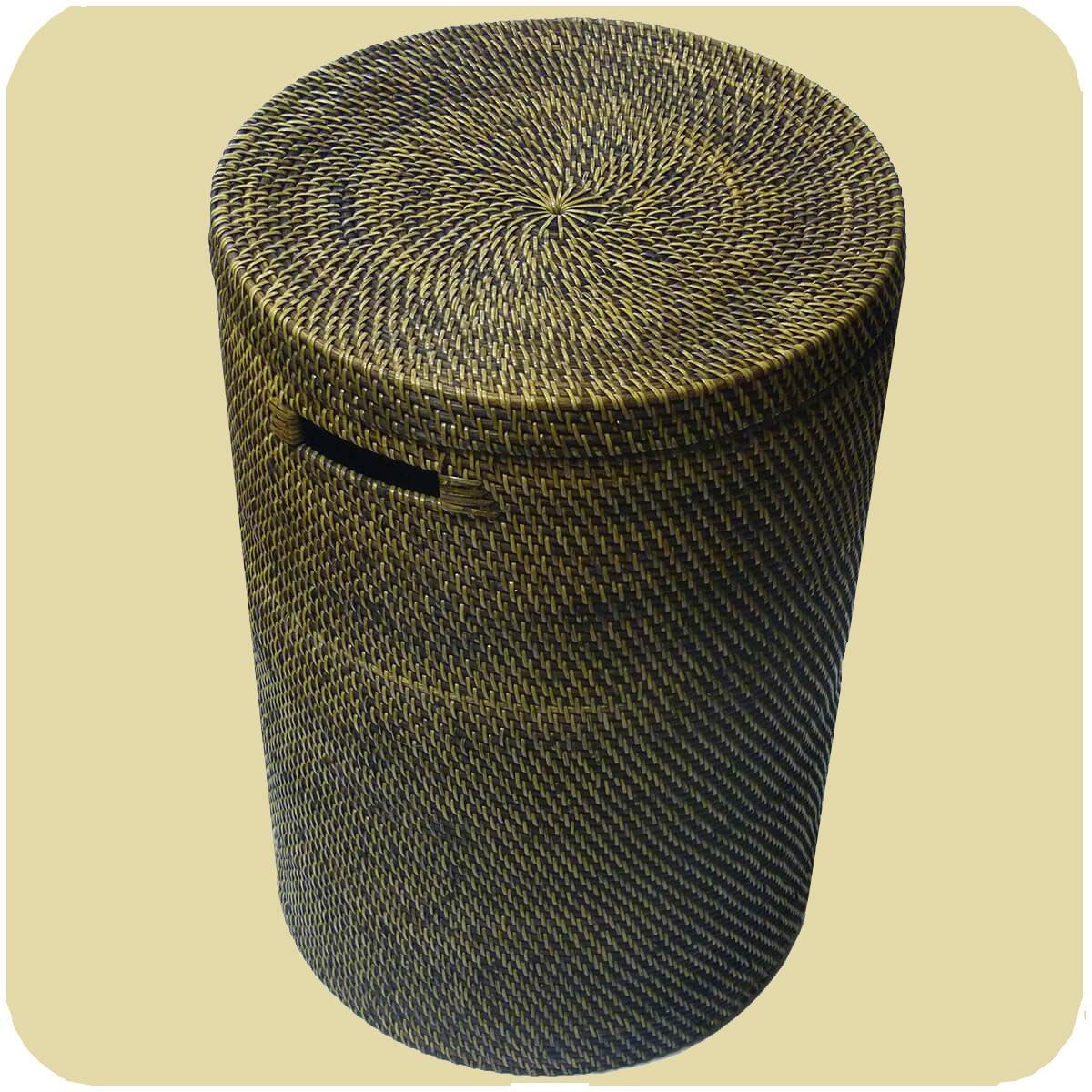 Wäschekörbe Wäschekorb Wäschebox Mit Deckel 100 Ata Rattan