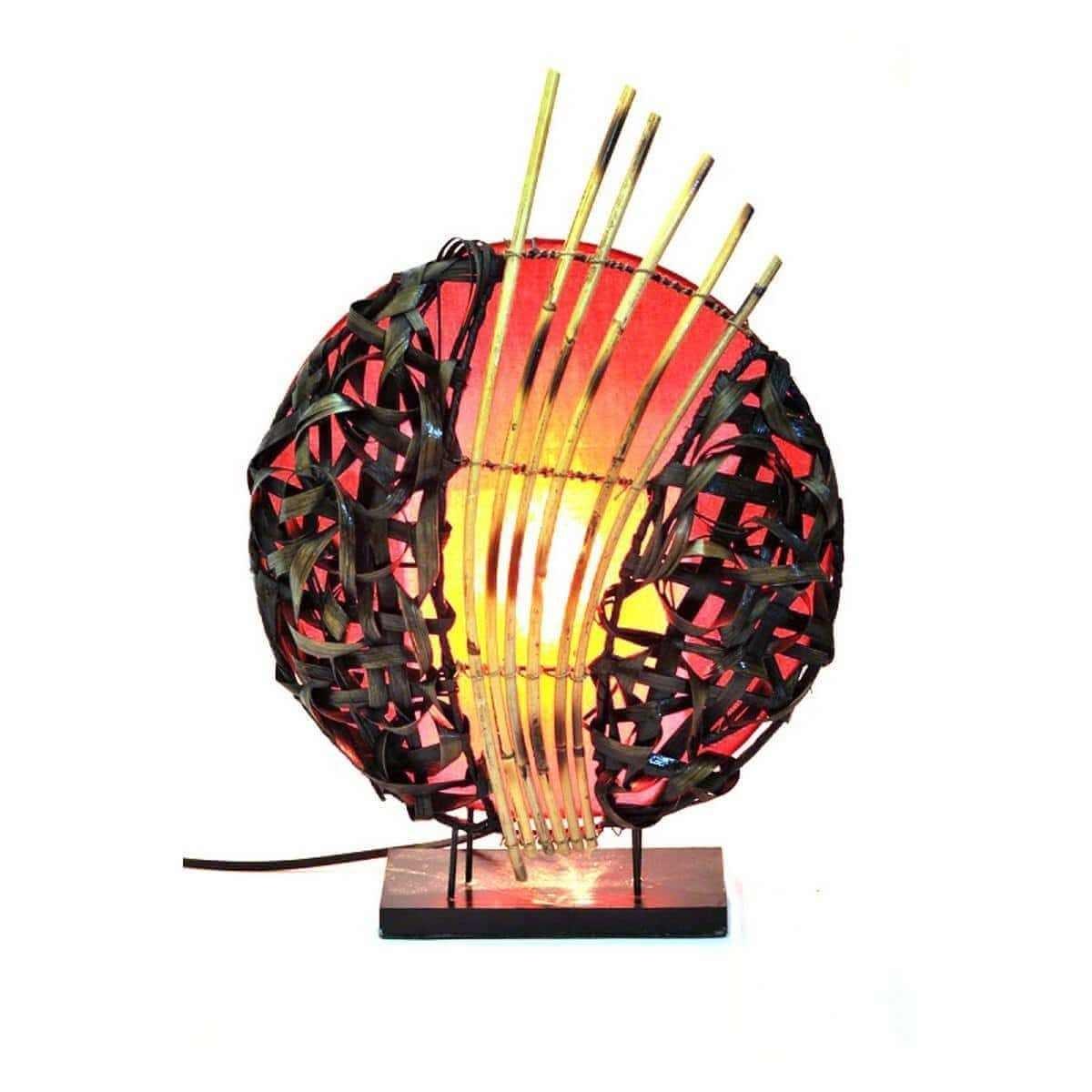 deko leuchte stimmungsleuchte stehleuchte tischleuchte tischlampe bali feng shui ebay. Black Bedroom Furniture Sets. Home Design Ideas