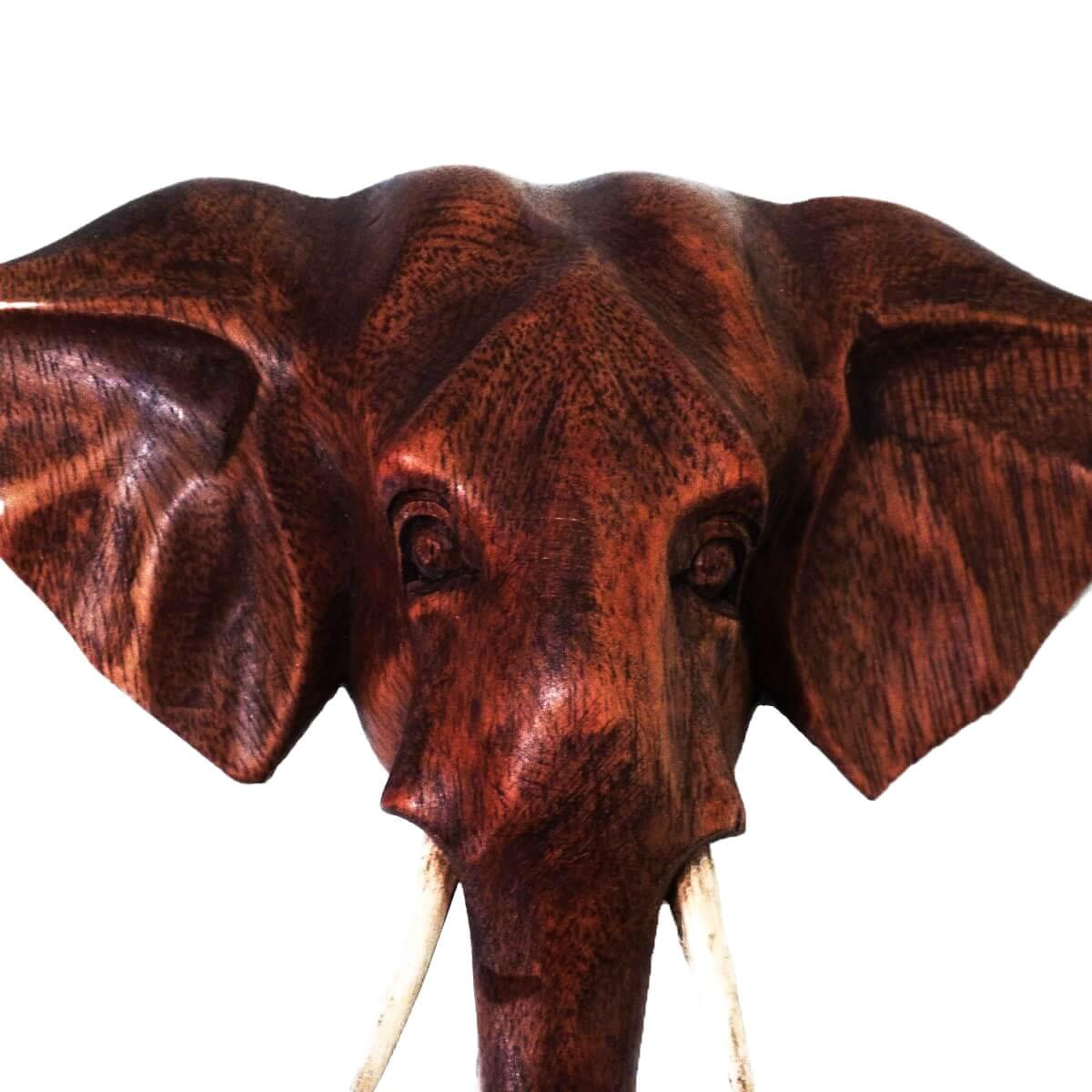 elefant holzmaske wandbehang maske wandmaske holz afrika gl cksbringer deko ebay. Black Bedroom Furniture Sets. Home Design Ideas