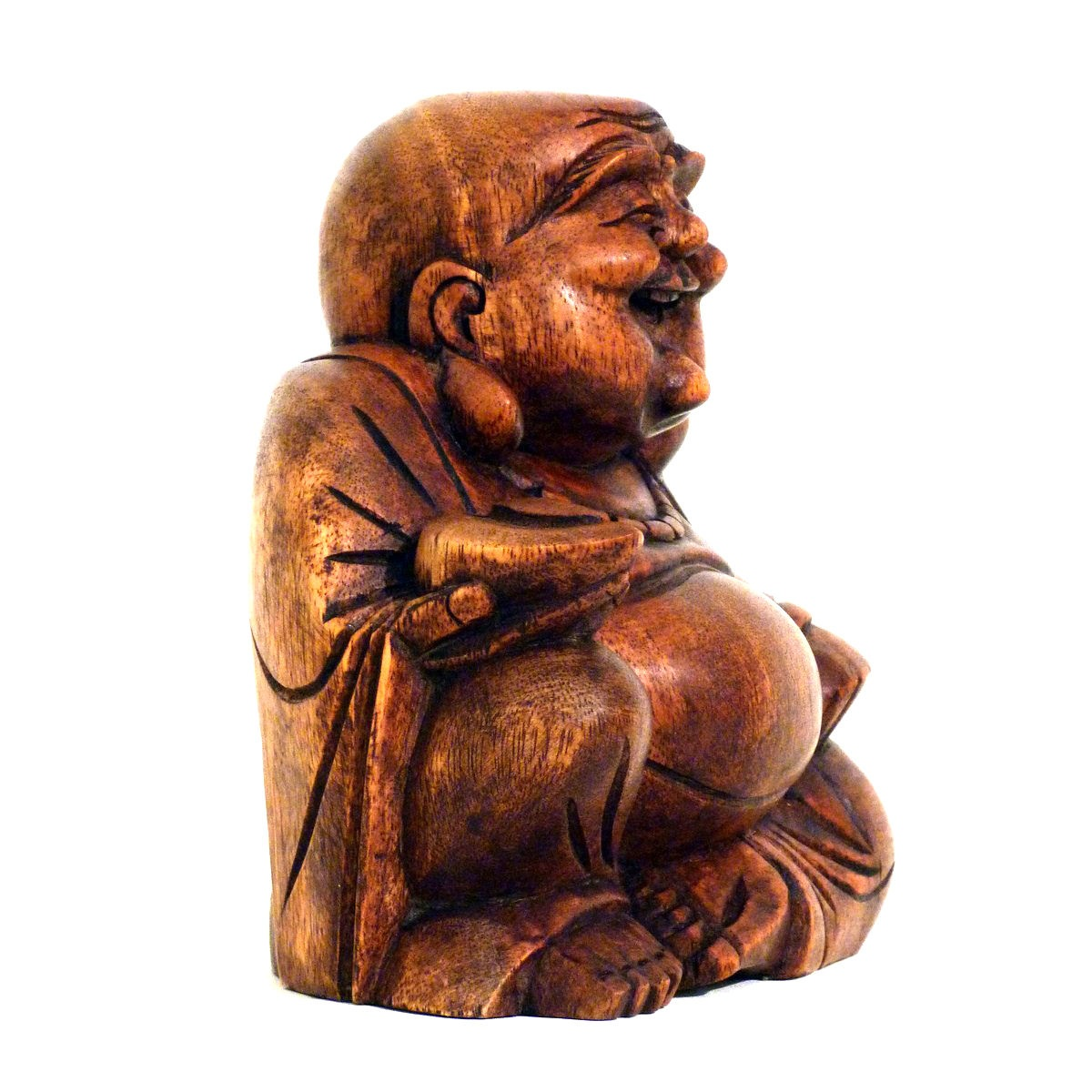 happy buddha holz figur skulptur abstrakt holzfigur afrika asia gl cksbringer ebay. Black Bedroom Furniture Sets. Home Design Ideas