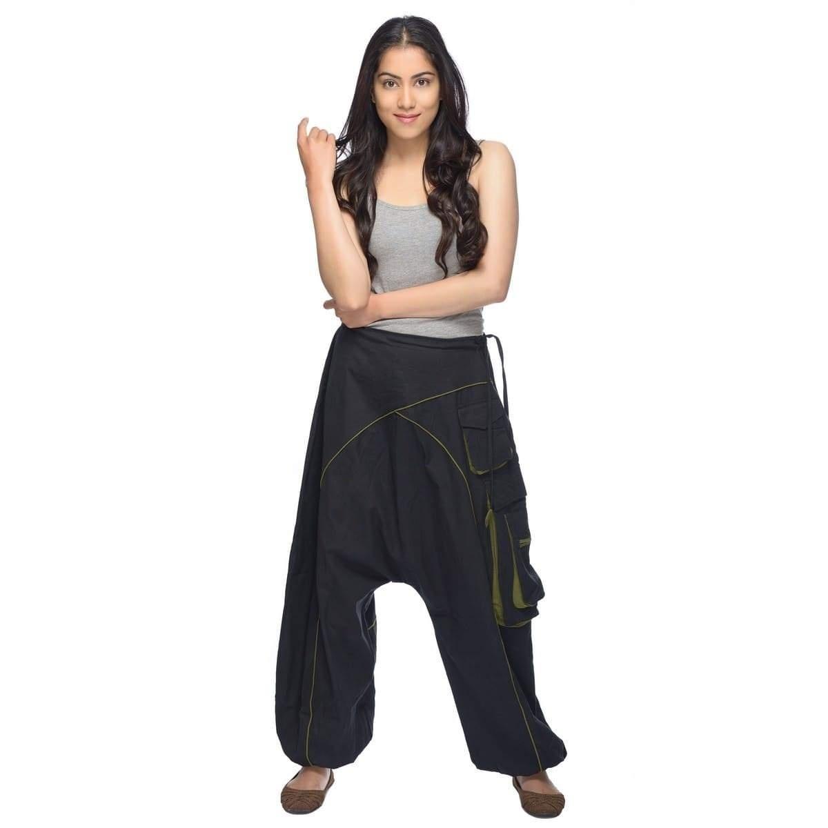 Pump Pantaloni Pocket-Pantaloni Tasche pluderhose Unisex Donna Uomo Yoga Pantaloni palloncino