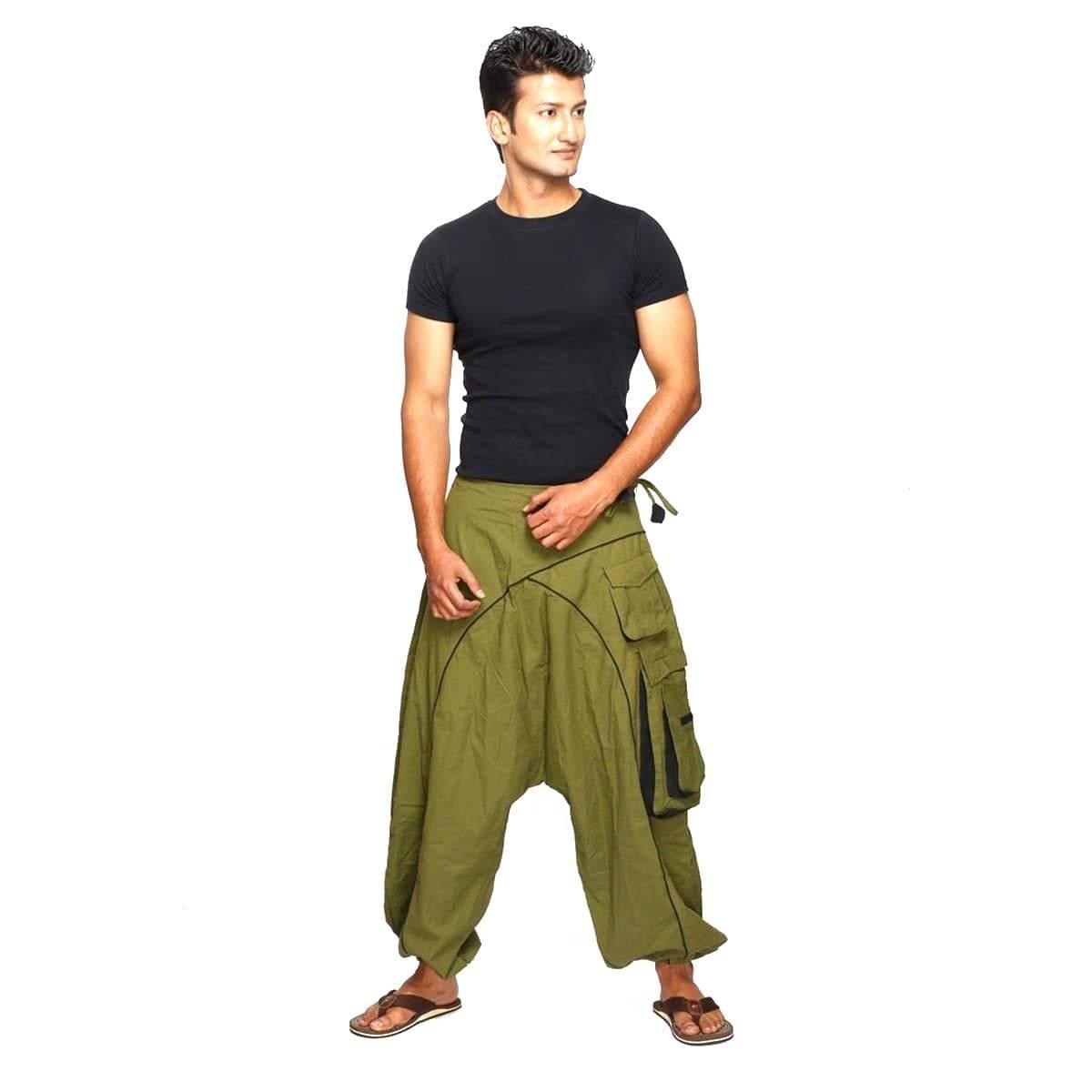 Aladinhose pour homme sarouel unisexe Pantalon bouffant Pluderhose Shalwar Sarouel Goa