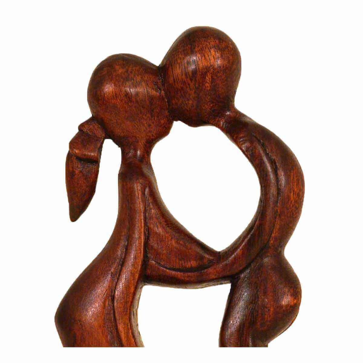 wood figure sculpture abstract wood figure africa asia handmade deco balance ebay. Black Bedroom Furniture Sets. Home Design Ideas