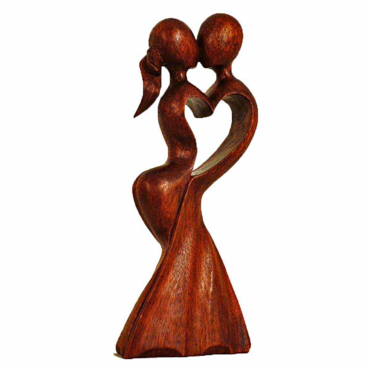 figurita madera escultura abstracta figura madera estatua asia frica mano trabajo decoracin la boda