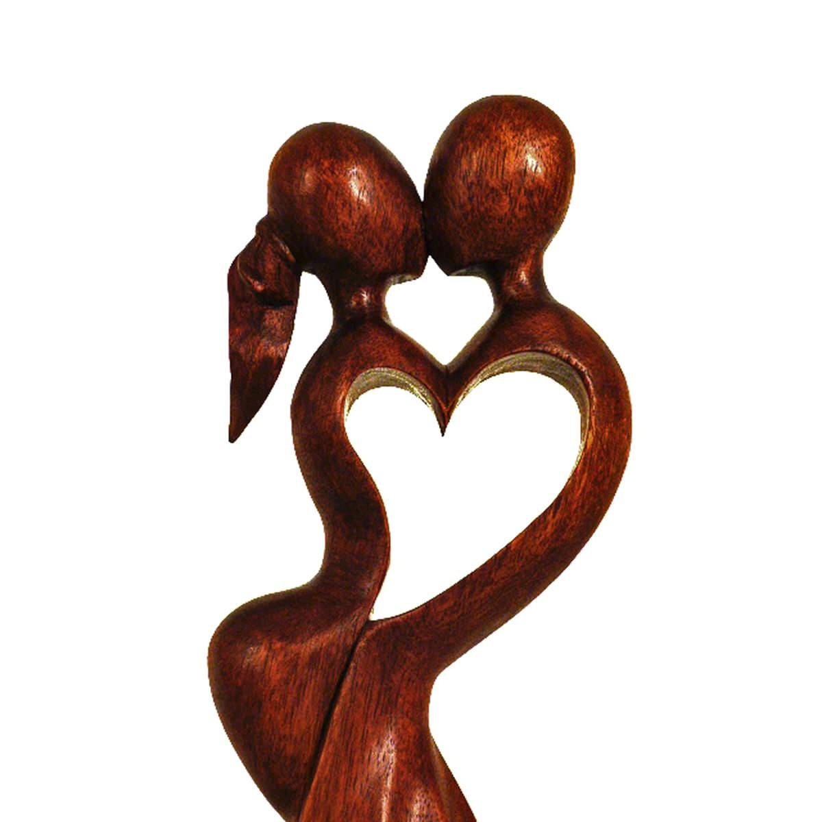holz figur skulptur abstrakt holzfigur afrika asia handarbeit deko hochzeit ebay. Black Bedroom Furniture Sets. Home Design Ideas