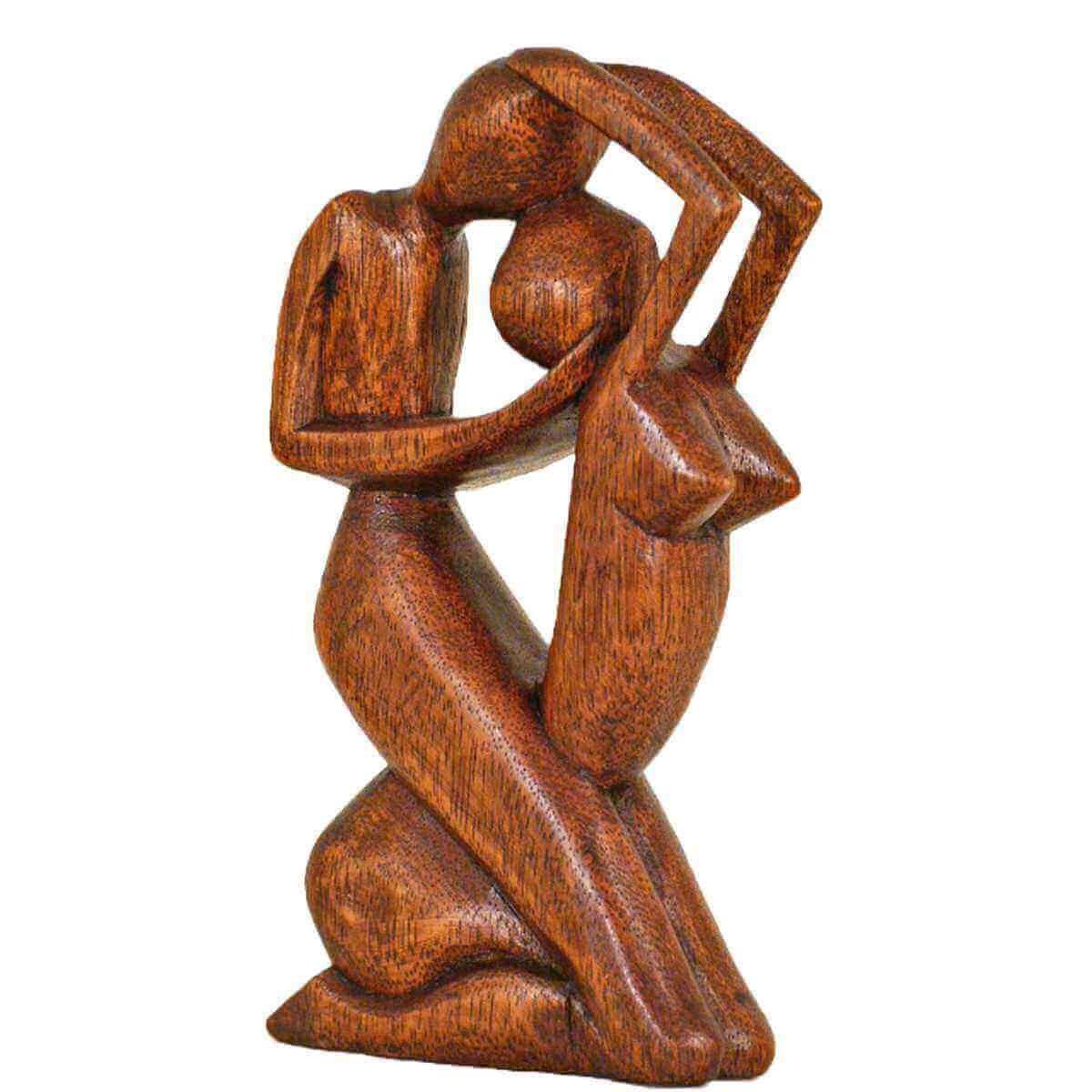 estatuilla de madera figura madera abstracta escultura pasin de frica asia mano trabajo decoracin