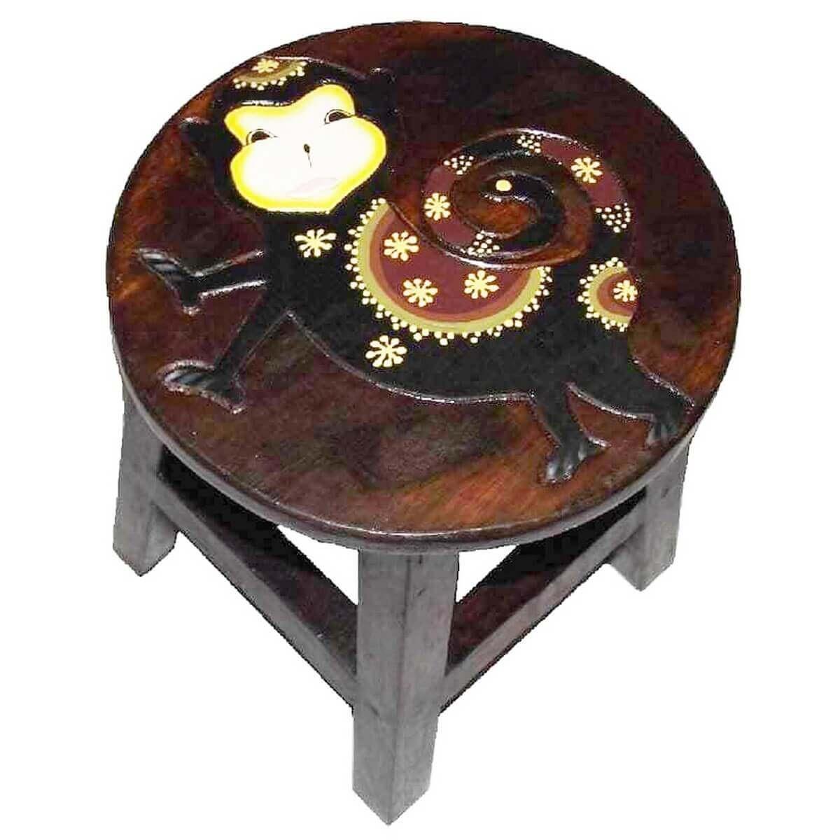 holzhocker kinderhocker hocker sitzhocker fu bank massivholz stuhl tier braun ebay. Black Bedroom Furniture Sets. Home Design Ideas