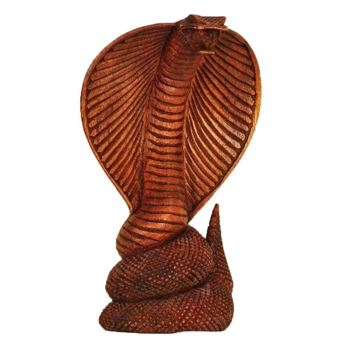cobra bois statue sculpture abstrait figurine en afrique asie fait la main ebay. Black Bedroom Furniture Sets. Home Design Ideas