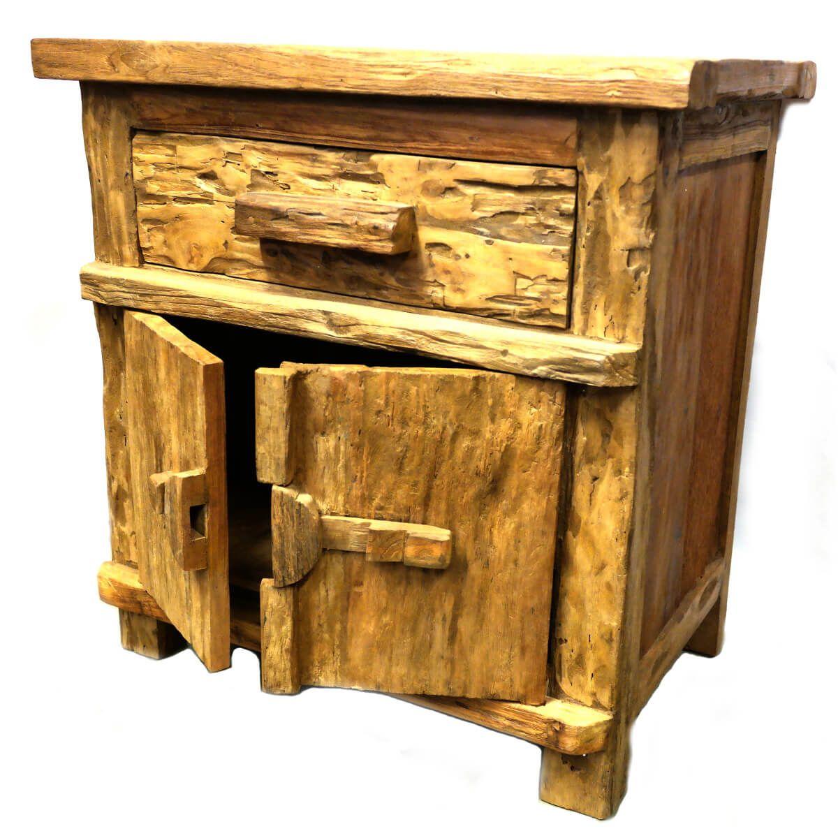 altholz kommode vintage massiv teak holz m bel unikat massivholz pur antik deko ebay. Black Bedroom Furniture Sets. Home Design Ideas