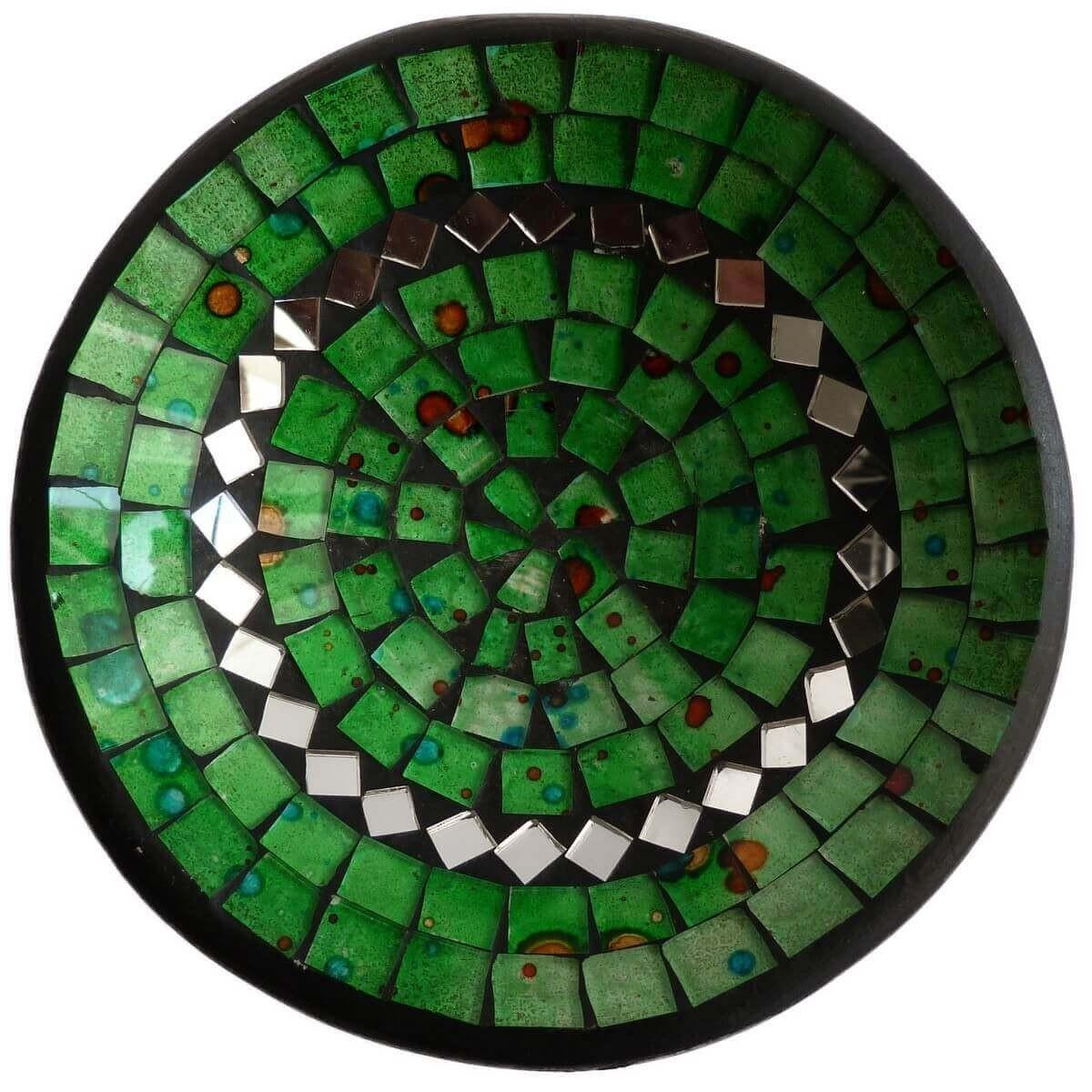 mosaikschale tonschale glasschale dekoschale mosaik kunst deko rund spiegel m ebay. Black Bedroom Furniture Sets. Home Design Ideas