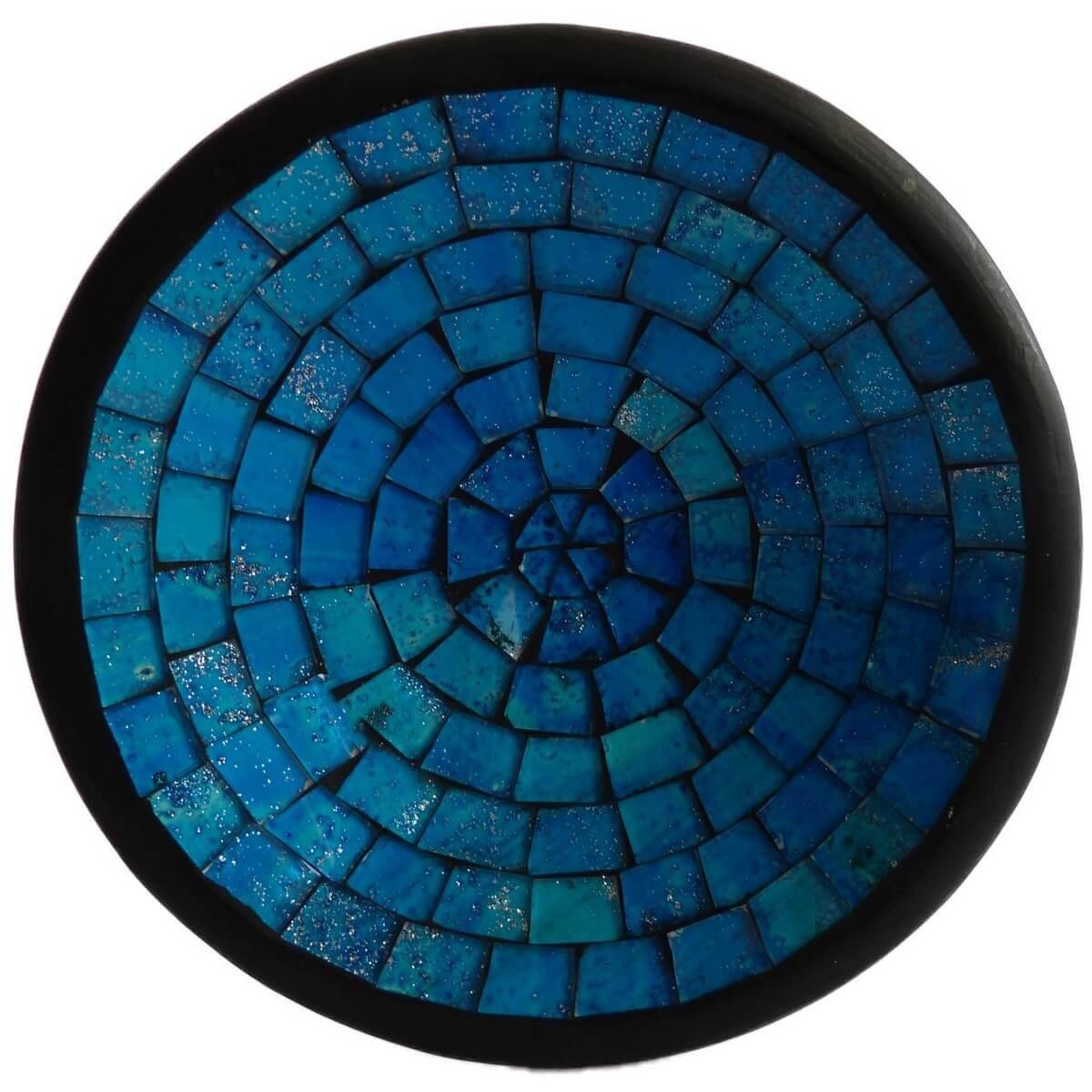 mosaikschale tonschale glasschale dekoschale mosaik kunst deko rund s ebay. Black Bedroom Furniture Sets. Home Design Ideas