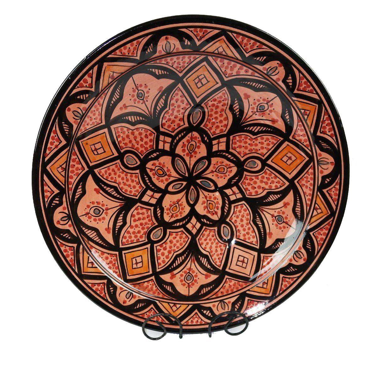 orientalischer keramik teller deko schale handbemalt marokkanisch wandteller xxl ebay. Black Bedroom Furniture Sets. Home Design Ideas