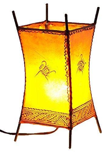 orientalische marokkanische stehlampe leder lampe hennalampe lederleuchte carres ebay. Black Bedroom Furniture Sets. Home Design Ideas