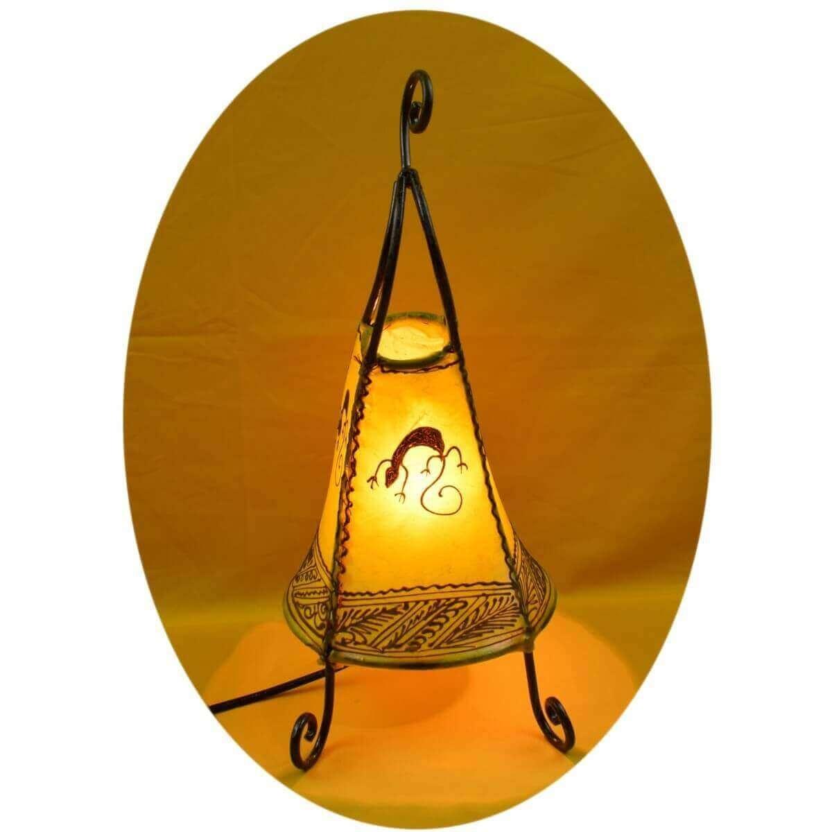 orientalische marokkanische stehlampe leder lampe hennalampe lederleuchte coq ge ebay. Black Bedroom Furniture Sets. Home Design Ideas