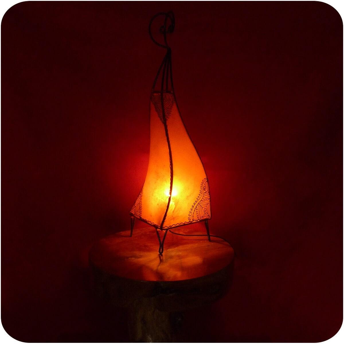 Orientalische Marokkanische Hennalampe Stehleuchte Stehlampe Lederlampe Lampe
